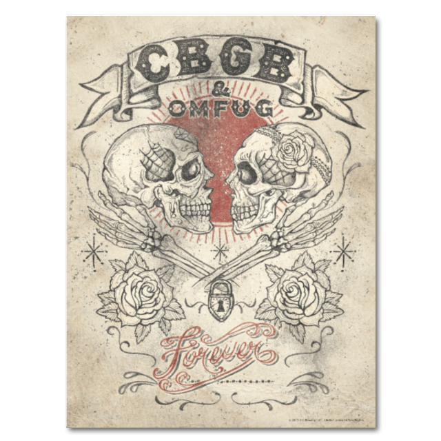 Drawing posters meaningful. Cbgb official store forever