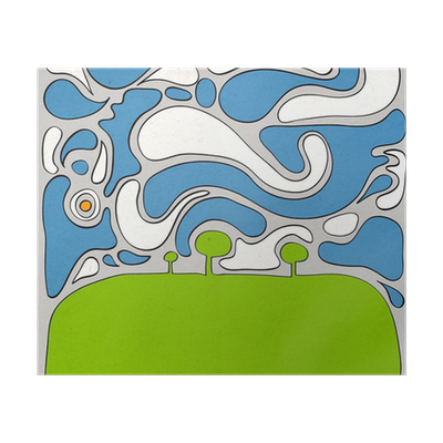 Drawing posters nature. Abstract with paper background