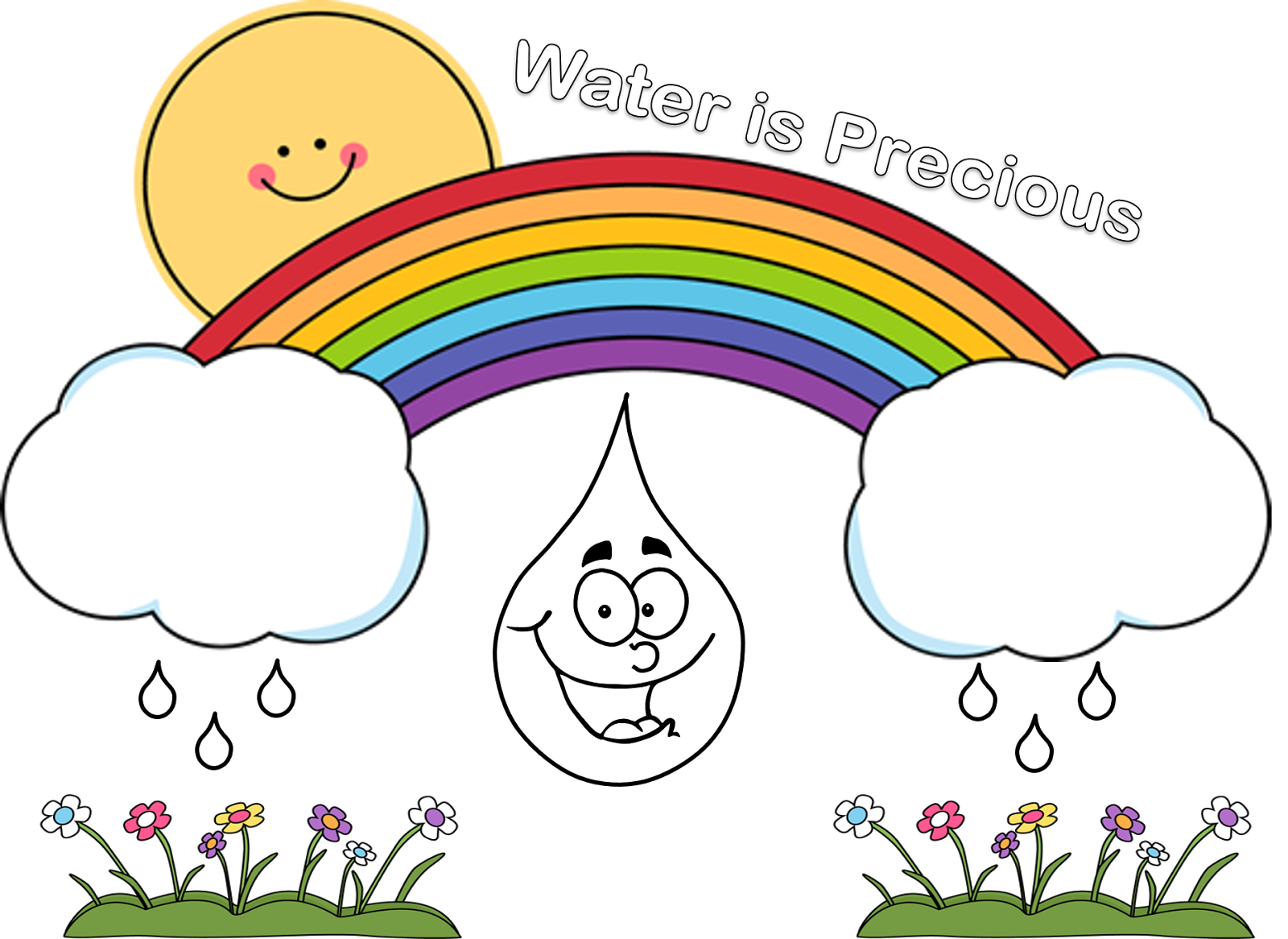 Drawing posters save girl child. Poster for water conservation