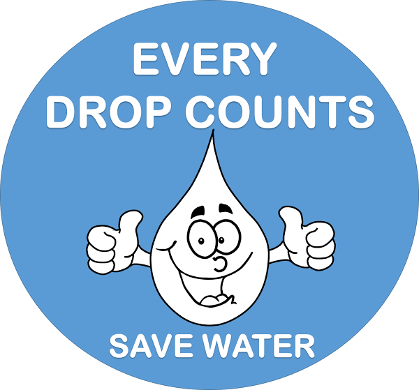 Drawing posters save girl child. Poster for water free