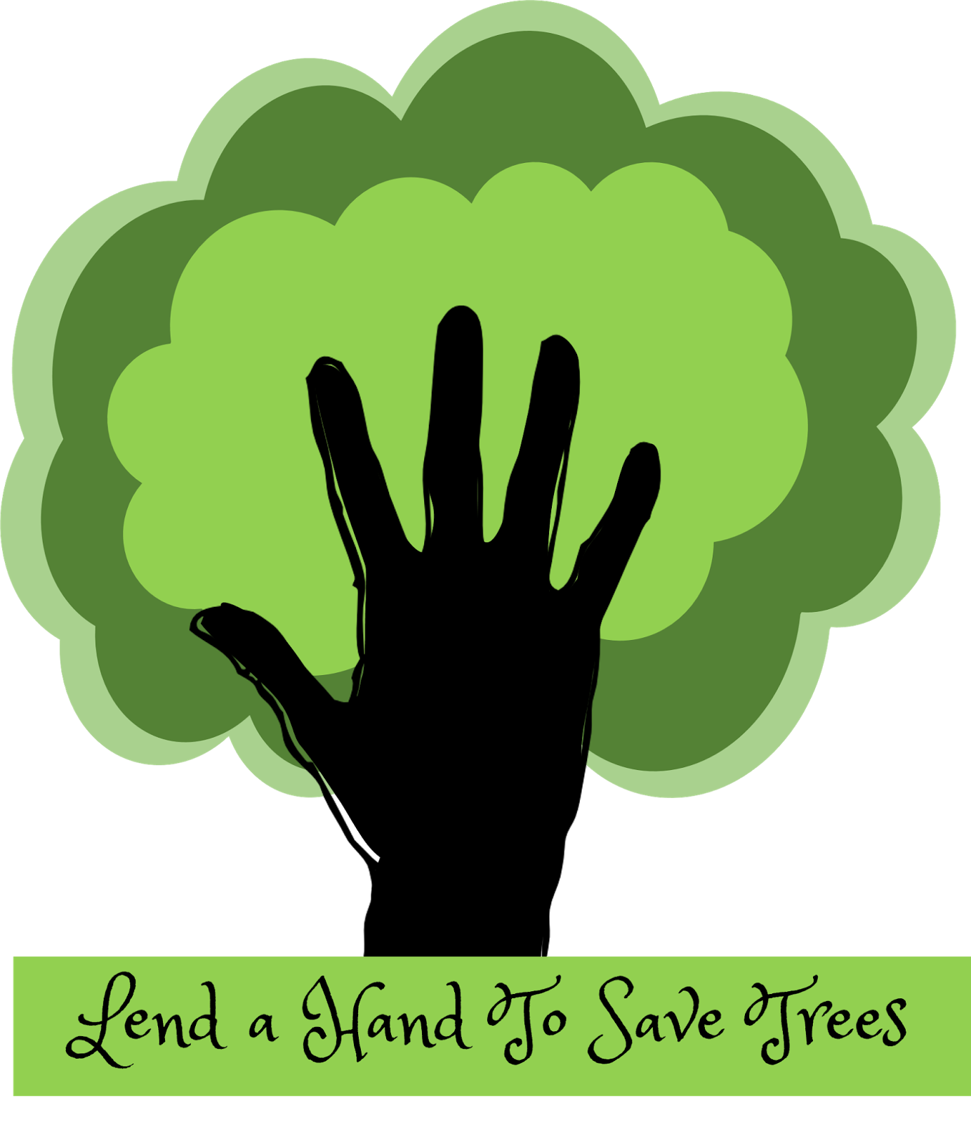 Drawing posters save girl child. Trees slogan free cliparts