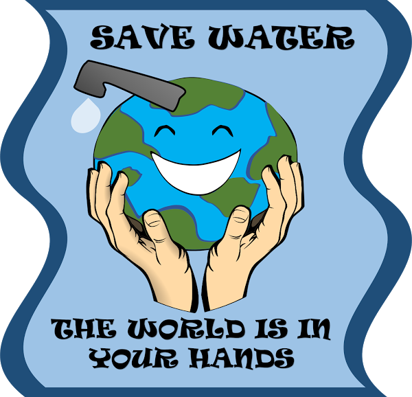 Evaporation drawing poster. For water conservation girlscouts