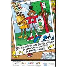 Drawing posters society. National children s dental