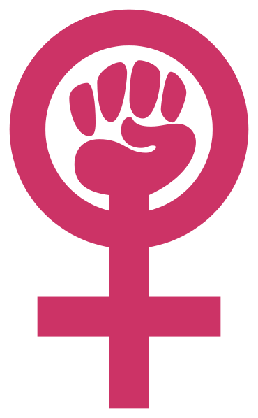 Drawing posters woman empowerment. Abstract a symbol to