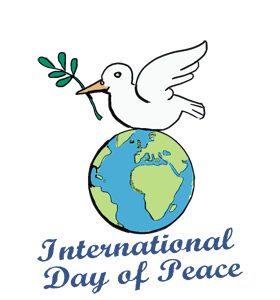 Drawing posters world peace. International day of