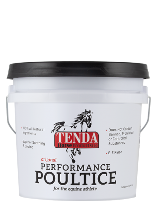 Drawing poultice. Equine clay tenda horse