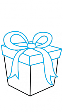 Drawing present christmus. How to draw a