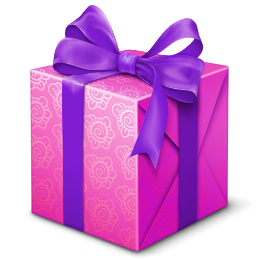 Drawing present gift box. Vector free icons and
