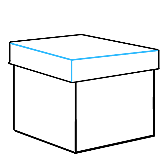 Drawing present gift box. How to draw a