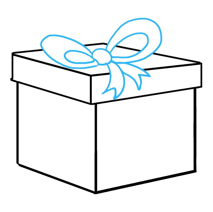 Drawing present cristmas. How to draw a