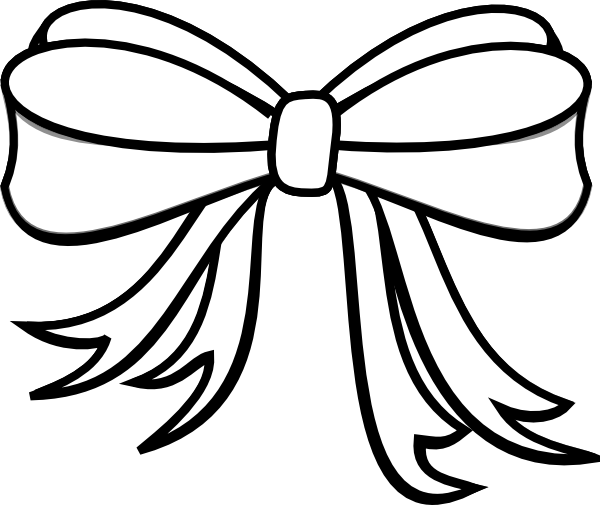 Drawing presents bow. Collection of present