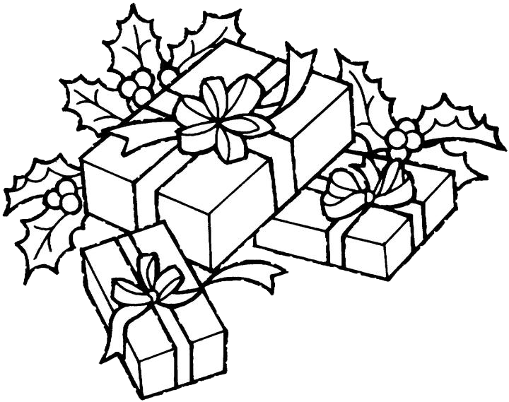 Drawing presents coloring. Free online christmas clip