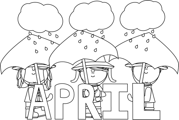 Drawing promps april. Black and white month