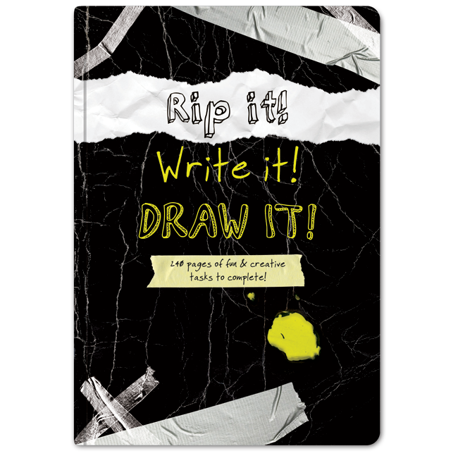Drawing promps creative. Illustrated journal with prompts