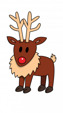 Raindeer drawing colorful. How to draw step