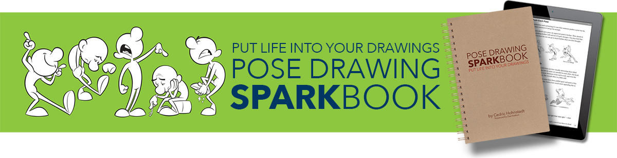 Drawing promt sketchbook skool. Pose sparkbook put more