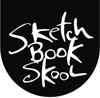 Fonts drawing sketch book. Fountain pens tips and