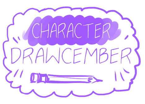 Drawing promt. Introducing character drawcember this