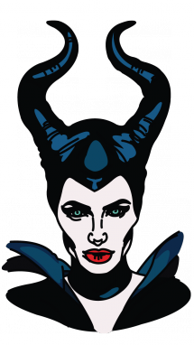 Horns vector maleficent. How to draw disney