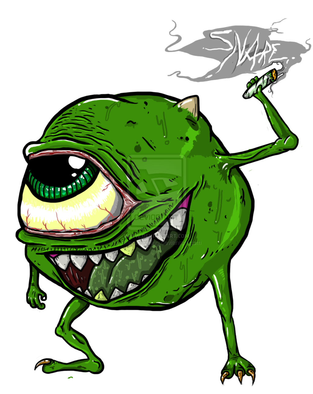 Weeds drawing 10 bit. Art mike wazowski