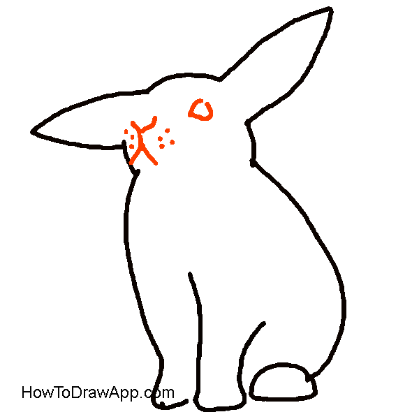 Hares drawing kid. How to draw a