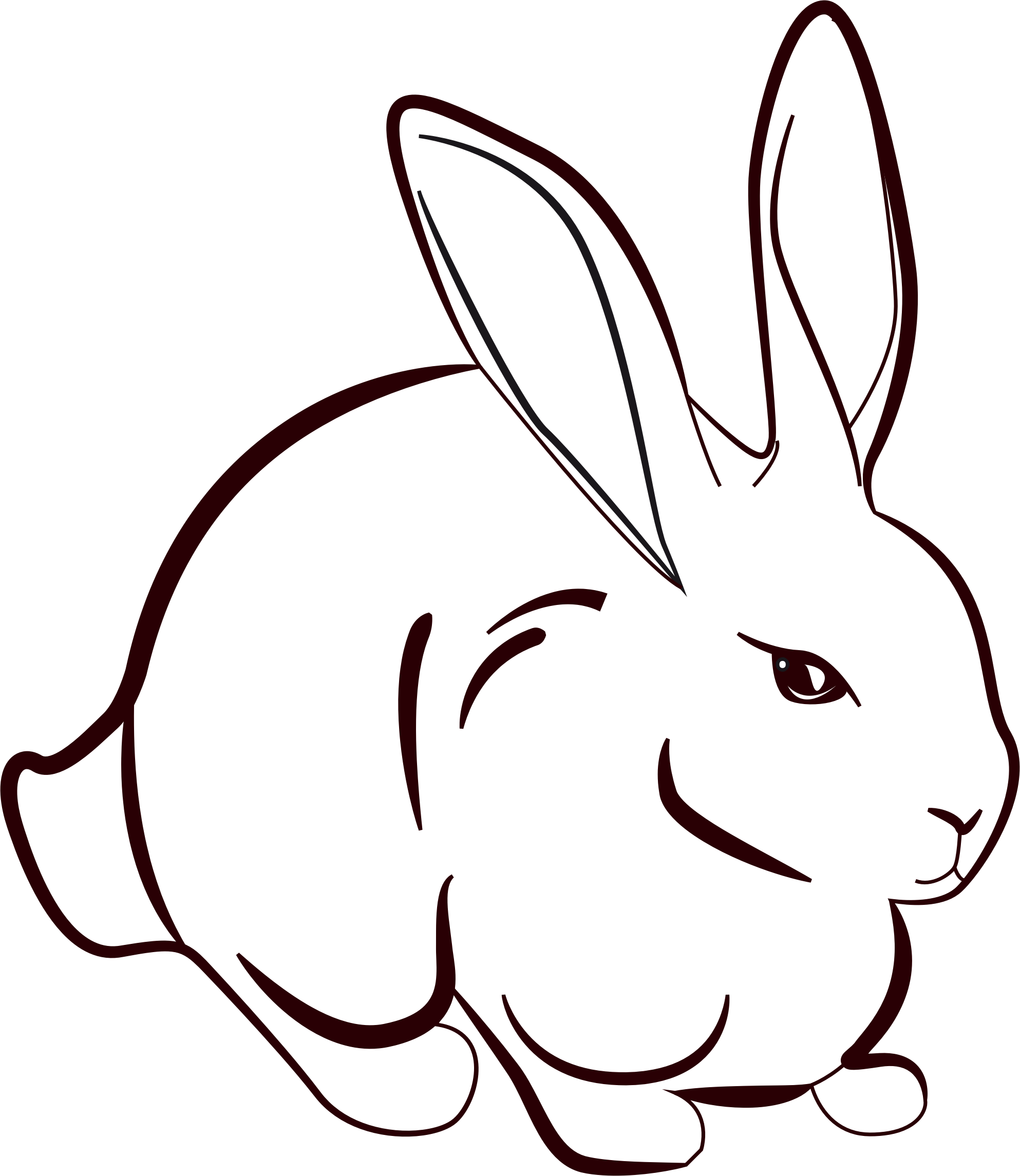 Population drawing bunny. Rabbit line at getdrawings