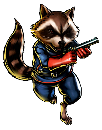 Drawing raccoon character marvel. Spider man on a