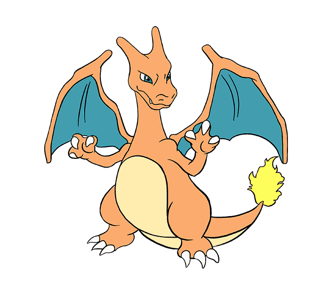 Charizard vector scared. How to draw dragons