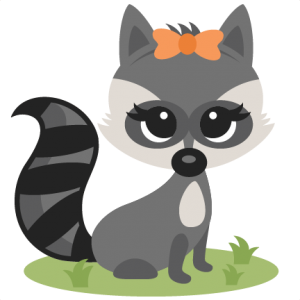 Drawing raccoon ink. Girl miss kate cuttables