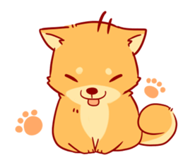 Drawing raccoon smore. Tibi shibainu sticker no