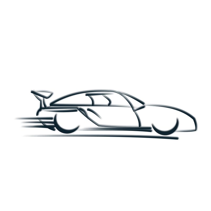 Drawing racing outline. Free race car clipart