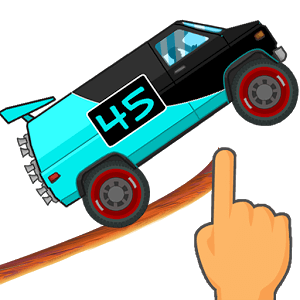 Drawing racing game. Road draw climb your