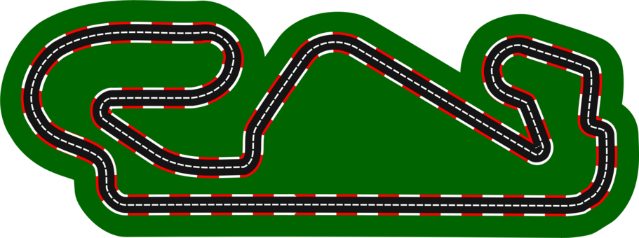 Drawing racing track. Go kart auto free