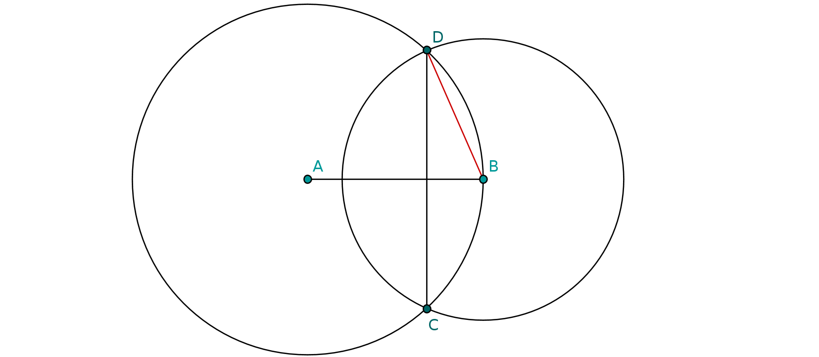Drawing radius. Geometry find the of