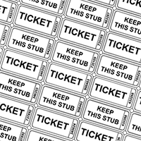 Free printable ticket templates. Drawing raffle coupon sample image black and white