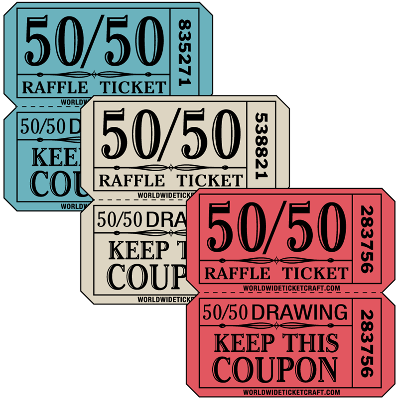 Drawing raffle ticket. Buy tickets for a