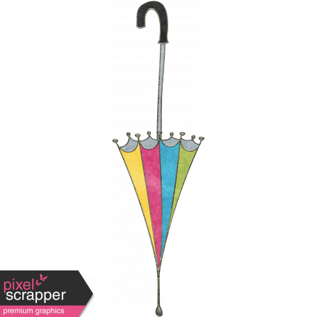 Drawing raindrops doodle. Rainbows umbrella graphic by