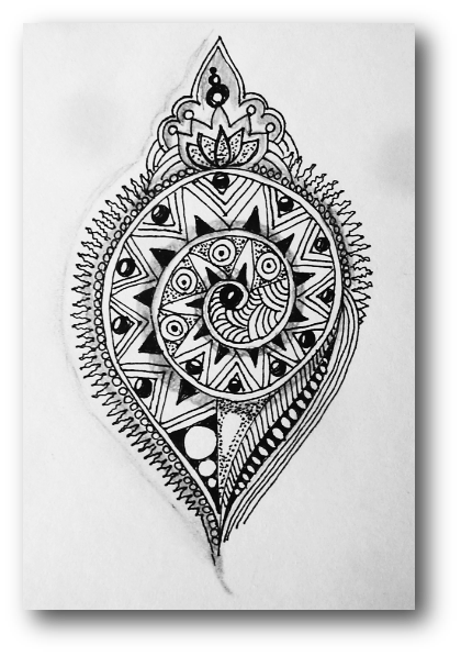 Drawing raindrops zentangle. Challenge xplore xpress