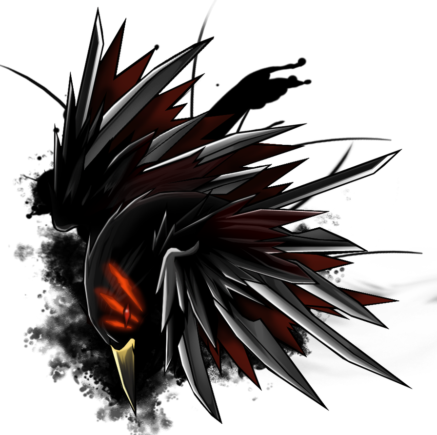 Drawing raven pencil. Emblem by darkness th