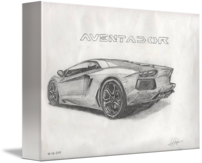 Supercar drawing detailed. Aventador by youandi hoefman