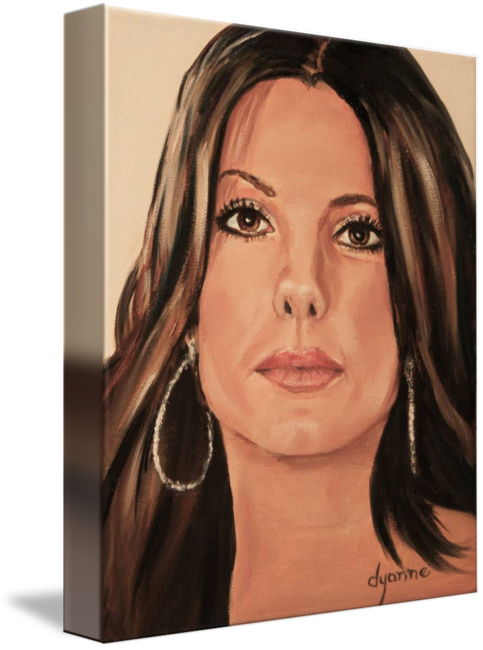 Drawing realism celebrity. Sandra bullock oil painting