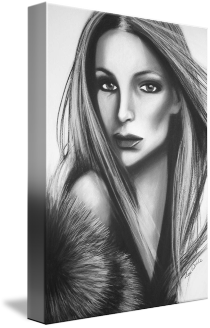 Drawing realism charcoal. Christina original art by