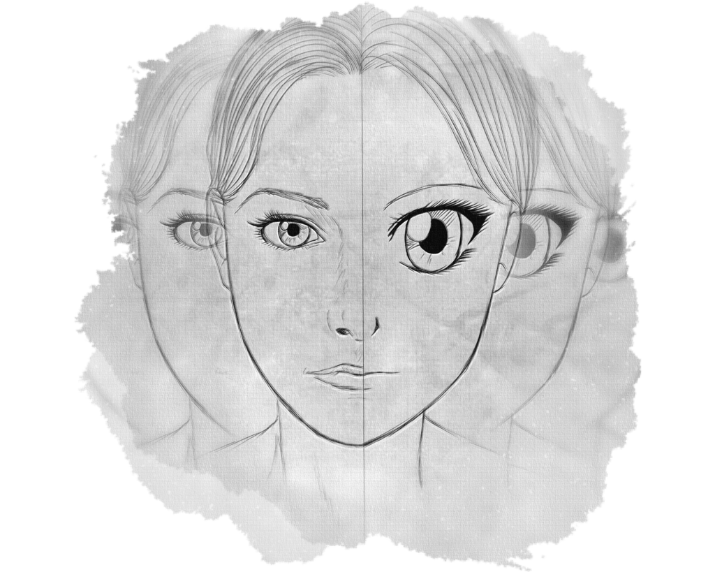 Drawing realism sketch. The thing with manga