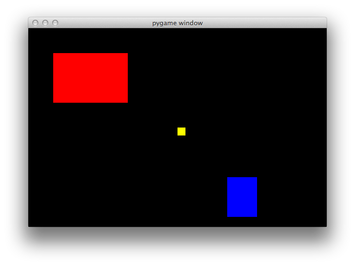 drawing rectangles pygame
