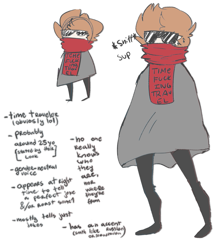 Drawing refrence person. Time travel reference sheet