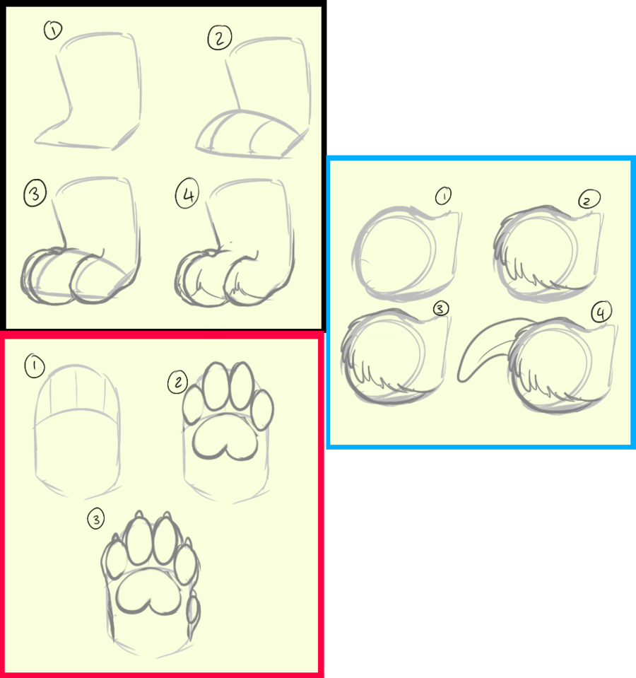 Paws and how i. Drawing resources clip art royalty free