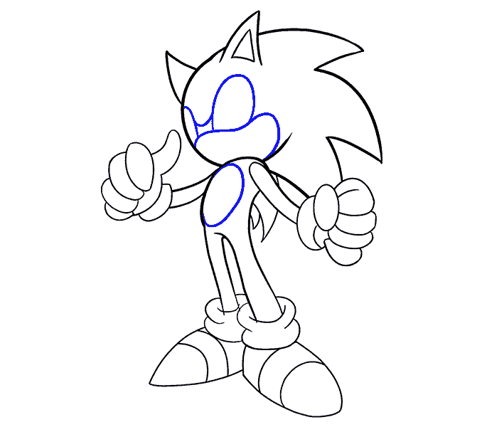 Drawing restrain character. How to draw sonic