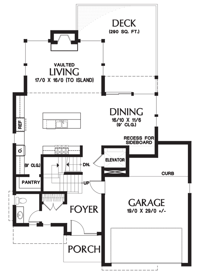Drawing restrain contemporary. House plan the ontario