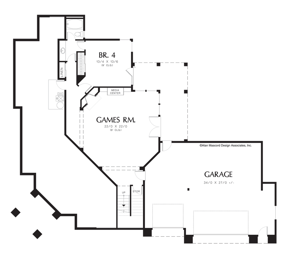 Drawing restrain contemporary. House plan the tarbell