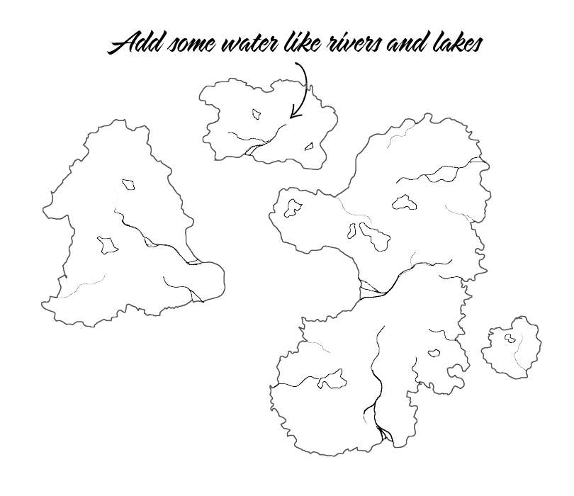 Drawing rivers flower. Fantasy map tutorial part